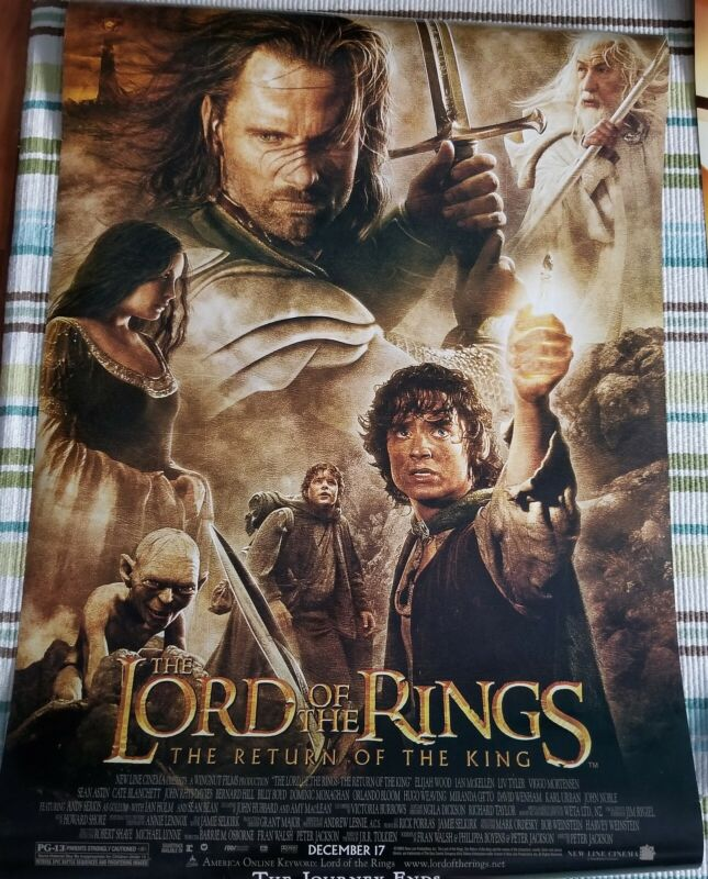 Return Of The King original movie poster 27x40 double sided