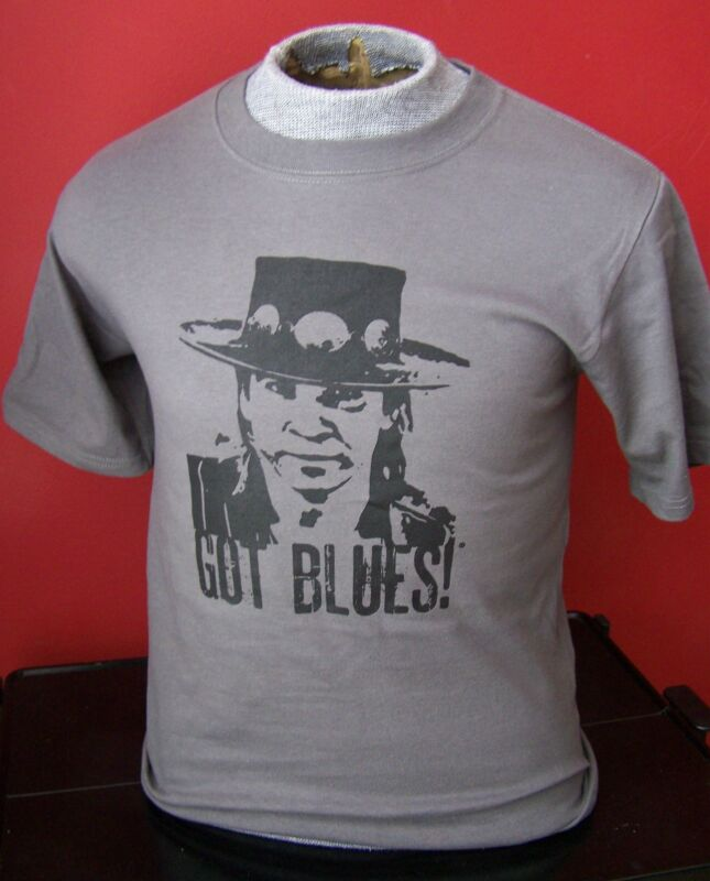 GOT BLUES STEVIE RV GUITAR  T-SHIRT SIZE XL and all other sizes