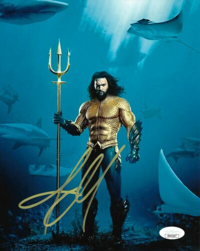 Jason Momoa Aquaman Autographed Signed 8x10 Photo JSA COA #4