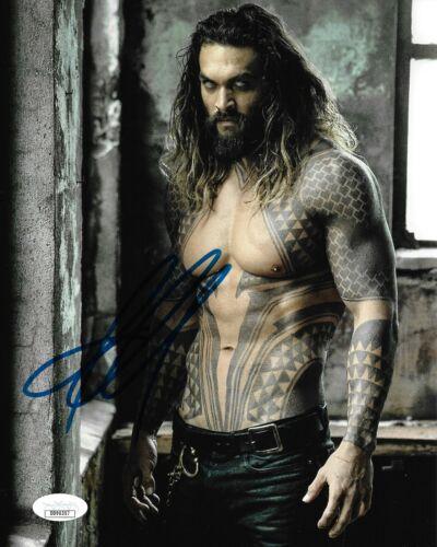 Jason Momoa Aquaman Autographed Signed 8x10 Photo JSA COA #10