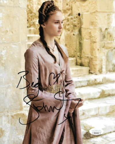 Sophie Turner Game of Thrones Autographed Signed 8x10 Photo JSA COA #19