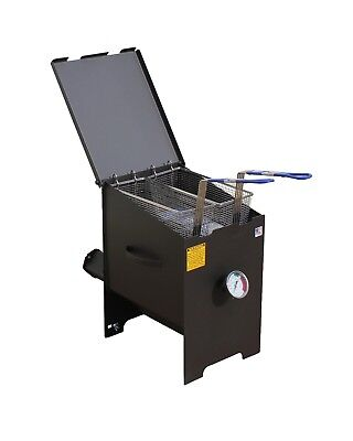 R&V Works 6 Gallon Cajun Fryer FF2-S NO CART Fish Outdoor French Fry Deep Cooker