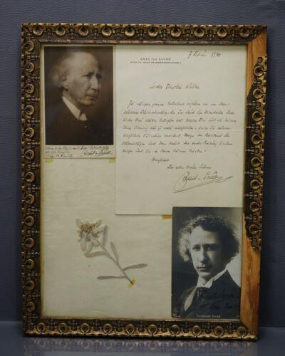 1919-40 German Emil Von Sauer Virtuous Pianist Autographs Signed Letter+Photos