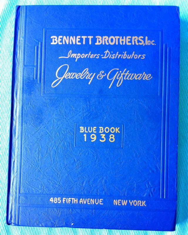 1938 BENNETT BROTHERS JEWELRY & GIFTWARE BLUE BOOK CATALOG * Toys Watches +++++