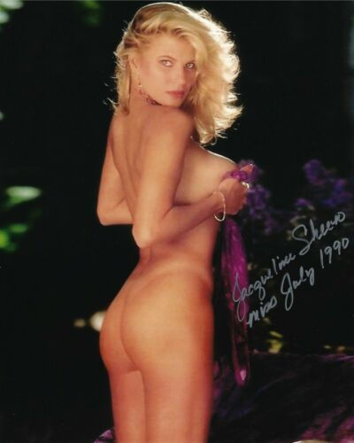 JACQUELINE SHEEN 07/1990 PLAYBOY PLAYMATE SEXY SIGNED PHOTO  (IN2)