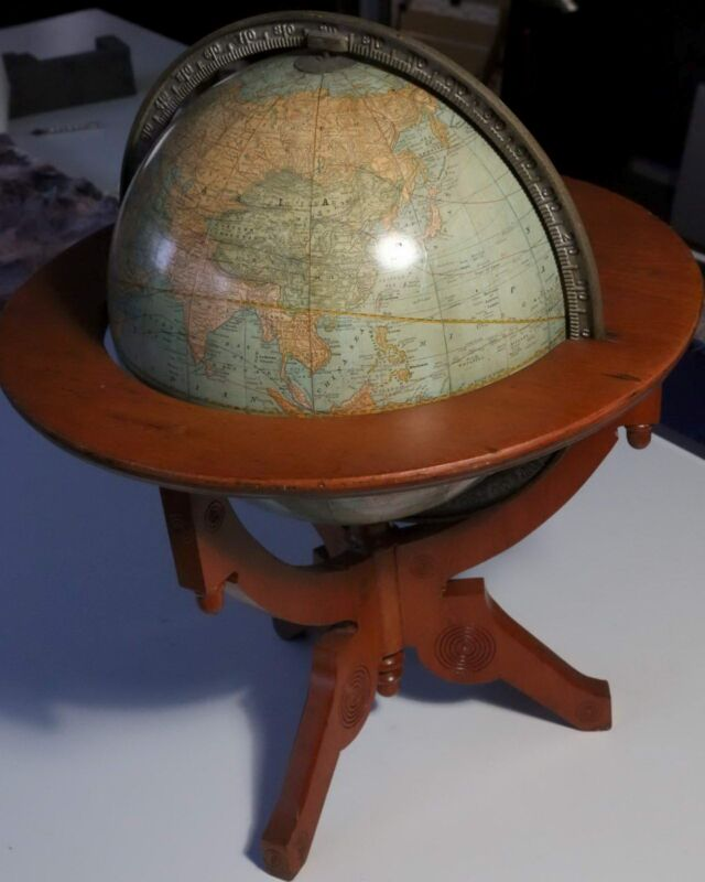 1891 Rand McNally & Co.s  Twelve Inch Terrestrial Globe