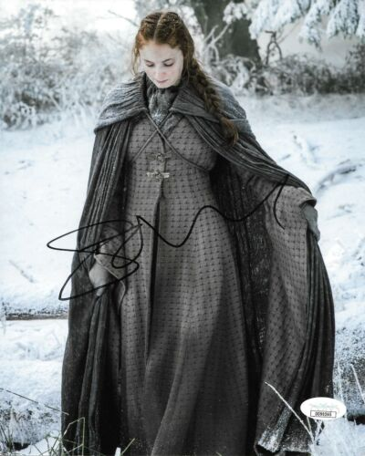 Sophie Turner Game of Thrones Autographed Signed 8x10 Photo JSA COA #16