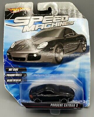 HOT WHEELS Speed Machines Black Porsche Cayman S 1:64
