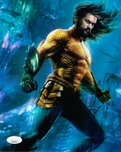 Jason Momoa Aquaman Autographed Signed 8x10 Photo JSA COA #CB8