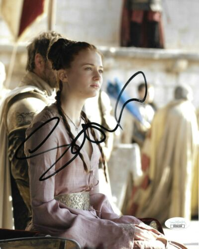 Sophie Turner Game of Thrones Autographed Signed 8x10 Photo JSA COA #15