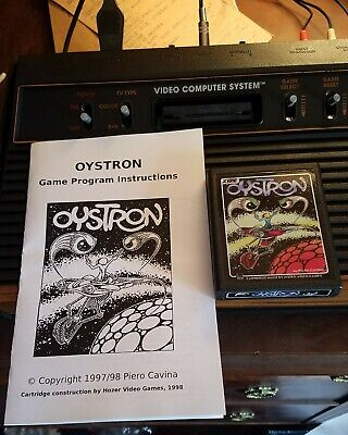 Oystron Atari 2600 VCS Homebrew with manual. Tested and working.
