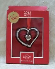 Lenox Our First Christmas 2013 Annual Silver Plated ...