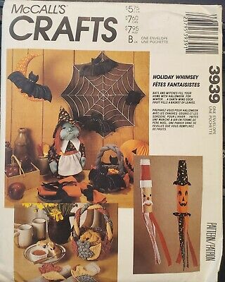 Fall Halloween Crafts (McCall's Crafts pattern 3939 Holiday Whimsey Halloween Fall decorations)