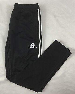 Adidas YOUTH Athletic TIR017 Climacool Soccer Sweat Pants Black White BS3690 XL