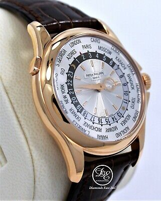 Patek Philippe World Time 5130R 18K Rose Gold Mechanical Silver Dial BOX/PAPERS