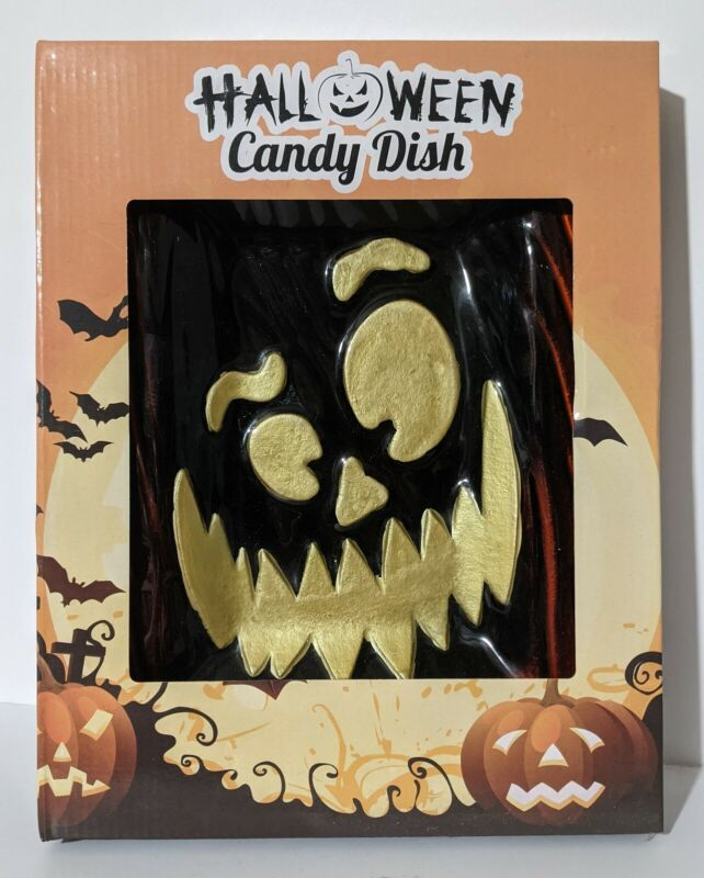 Jack O'Lantern Halloween Candy Dish New in Box Trick or Treat Holiday Decoration