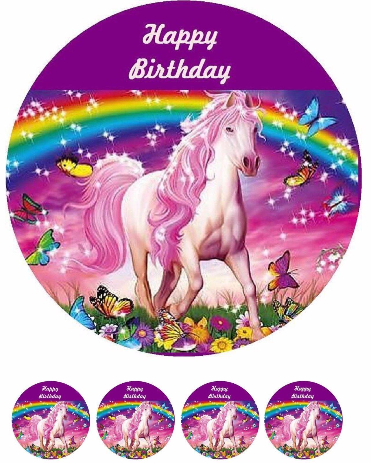 Tortenaufleger---Pferd----Geburtstag--Party---Fondant //Oblate