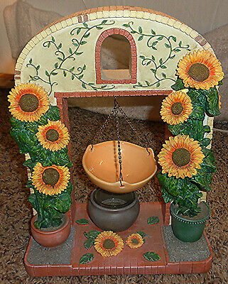 SUNFLOWERS ARCH HANGING TART WARMER/BURNER, CUTE! RARE! YANKEE CANDLE?