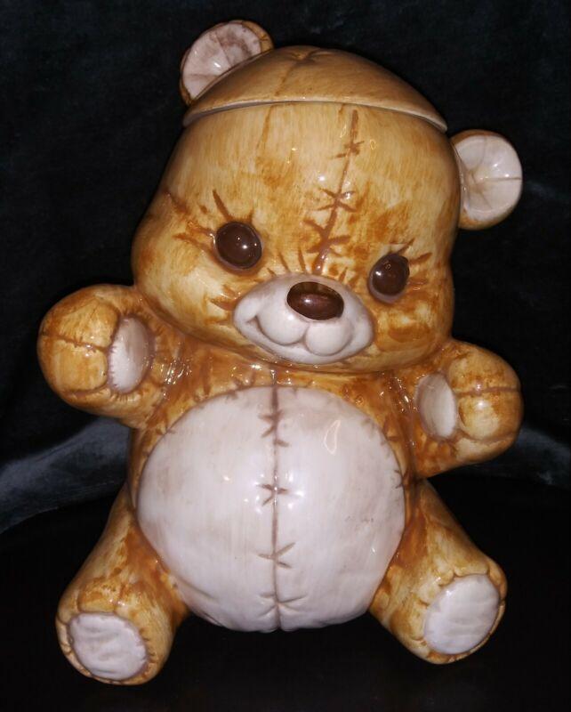Cute Vintage 1980's Treasure Craft Teddy Bear Cookie Jar