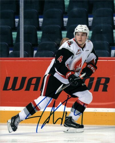 Moose Jaw Warriors Jett Woo Signed Autographed 8x10 Photo COA