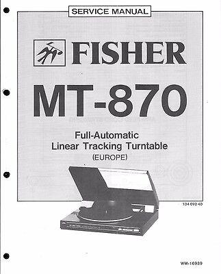 Fisher Service Manual für MT 870