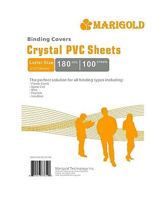 Crystal Clear Binding Covers Presentation - Marigold 100 Pack 7 Mil Letter Size