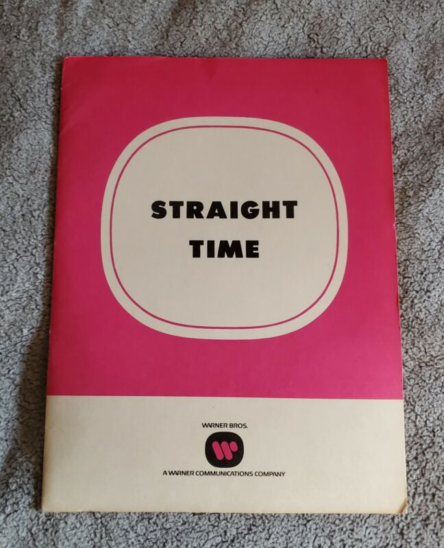 """1978 """"STRAIGHT TIME"""" Dustin Hoffman MOVIE PRESS KIT With (6) PHOTOS In FOLDER"""