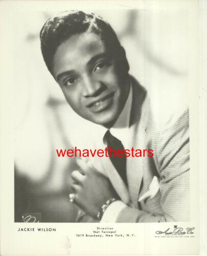 VINTAGE Jackie Wilson R&B SOUL BLACK SINGING ARTIST 60s Publicity Portrait