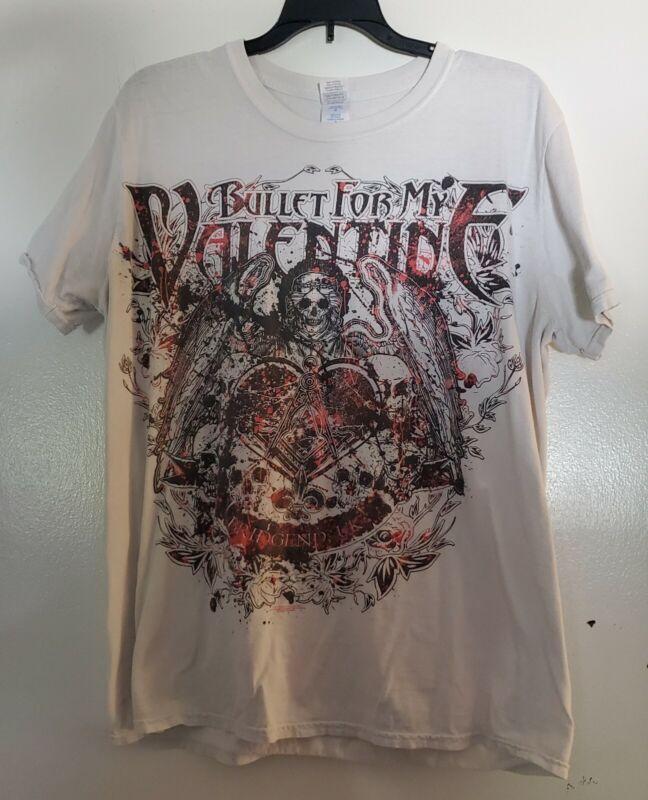 Pre-Owned Bullet For My Valentine Bridgend Short Sleeve T-Shirt Size Large