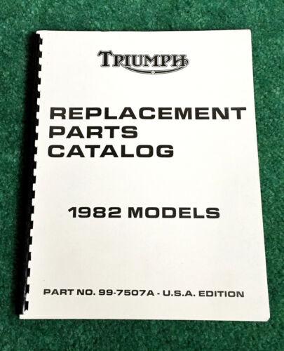 NOS ORIG 1982 TRIUMPH MOTORCYCLE PARTS MANUAL CATALOG BONNEVILLE EXECUTIVE ROYAL