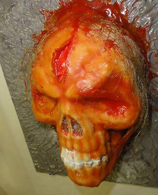 """3D-Bild """"Cold Death"""" Gießmasse & Latex auf PVC - Horror - Unikat - 23,5 x 18 cm"""