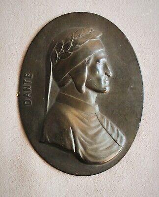 Decorative Dante Alighieri, Metal Badge Porträtmedaillon