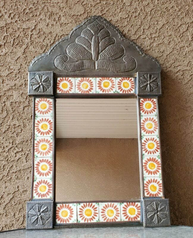 Mexico Ceramic Tile Metal Mirror