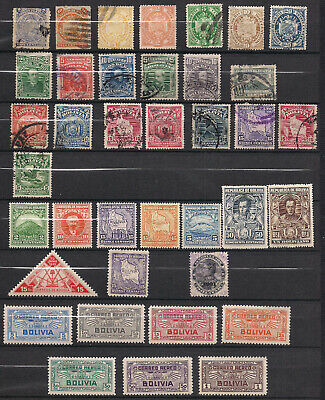 Bolivia - Lot of Stamps - MH and Used with some faults