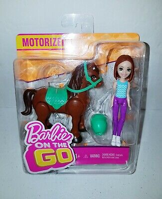 Barbie On the Go Brown Pony Horse and Doll New in Package Motorized