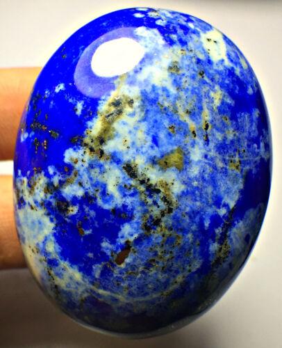 232 CT Eye Catching Big Size VVS Natural Blue Lapis Lazuli Cabochon Palm Stone