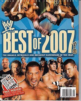 WWE January 2008 Wrestling Magazine Best of 2007 W/ POSTER tna