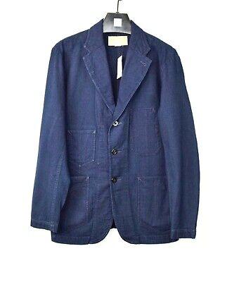$579 New Ralph Lauren RRL Men Cotton Denim Jean Blazer Jacket Navy Blue S Small