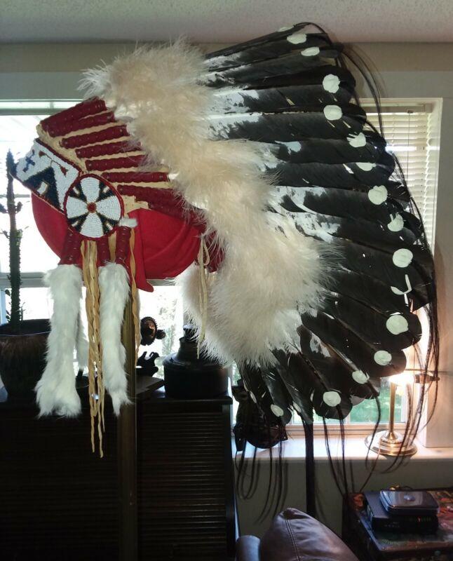 Native American Lakota Style Inspired War Bonnet