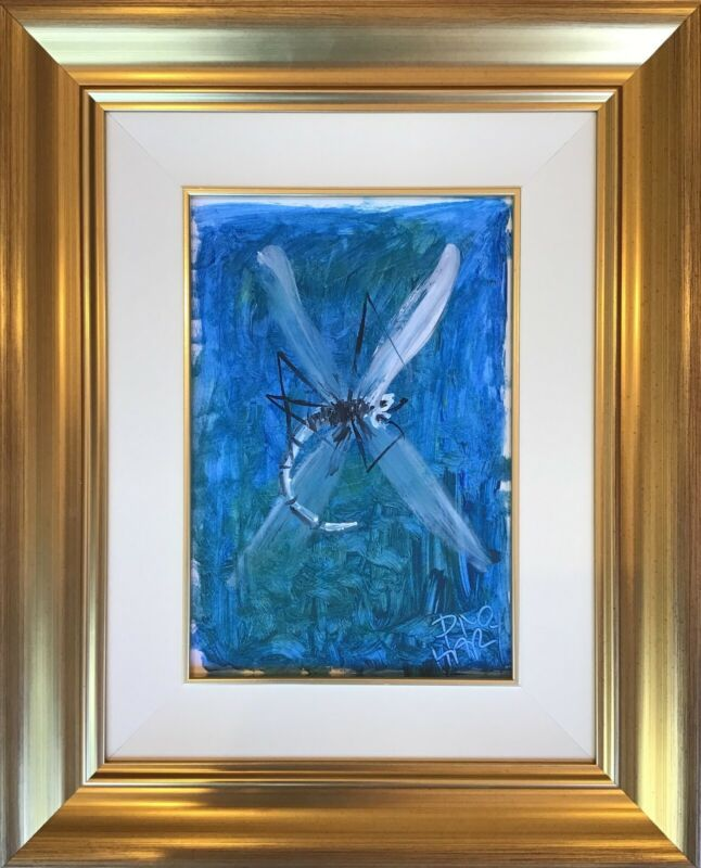 DRAGONFLY - PRO HART ORIGINAL PAINTING 30 x 21 CM UNRESERVED