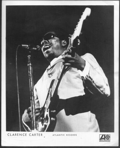 ~ Blues Guitarist Vocalist Clarence Carter Original 1970 Atlantic Records Photo