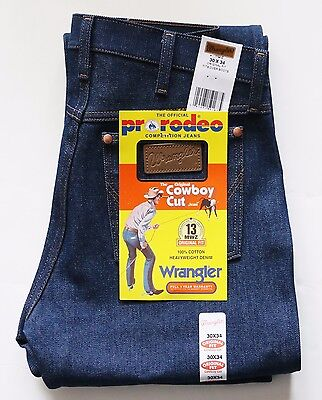New Wrangler Cowboy Cut 13MWZ Original Fit Jeans Rigid Indigo Men's Sizes   - Fit Rigid Jeans