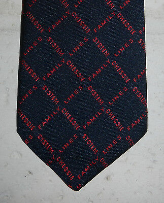 Vintage Chessie System Family Lines CSX Railroad Train Logo Mens Necktie Tie