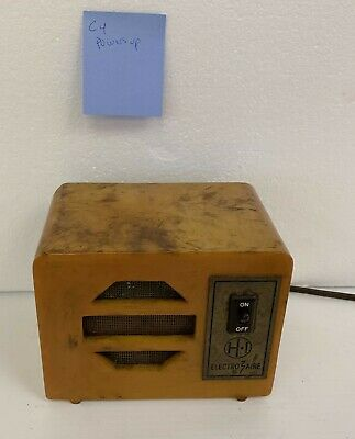 VINTAGE ELECTRO-AIRE OZONE BUTTERSCOTCH CATALIN TUBE RADIO CHASSIS IONIZER