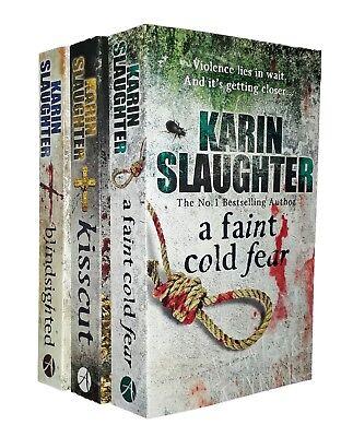 Karin Slaughter 3 Books Grant County Thriller Mystery Series 1 2 3 Kisscut New, occasion d'occasion  Expédié en Belgium
