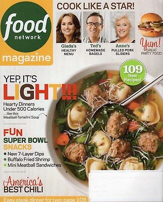 Food Network Magazine   2014   Jan Feb   Light Meals  Super Snacks 109 Recipes