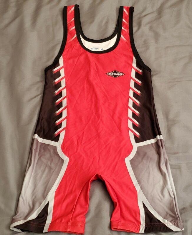 MATMAN Wrestling Singlet Adult Medium Jersey Tournament Gear made in USA rare M