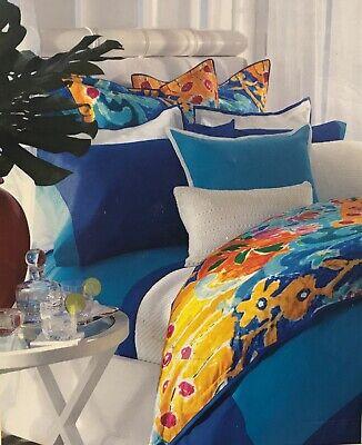 RALPH LAUREN ISLE CAPRI ROYAL BLUE TWIN EXTRA DEEP FITTED SHEET MSRP $40 ()