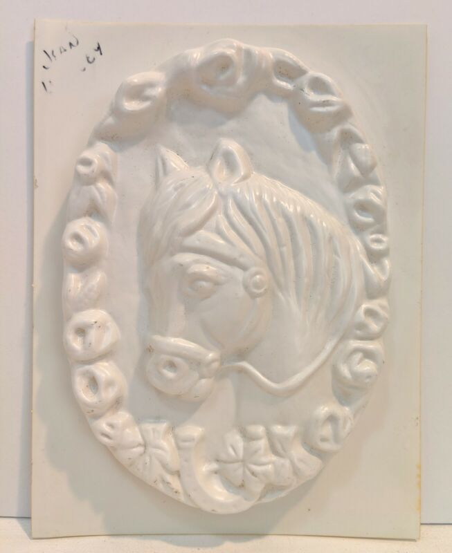 Vintage Pony Horse Wreath Mold Plastic Candle Or Craft Mould
