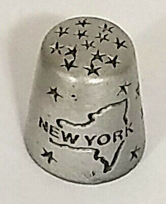 "New York State Bird - New York State Bird Bluebird Collectible 7/8"" Pewter Sewing Thimble"